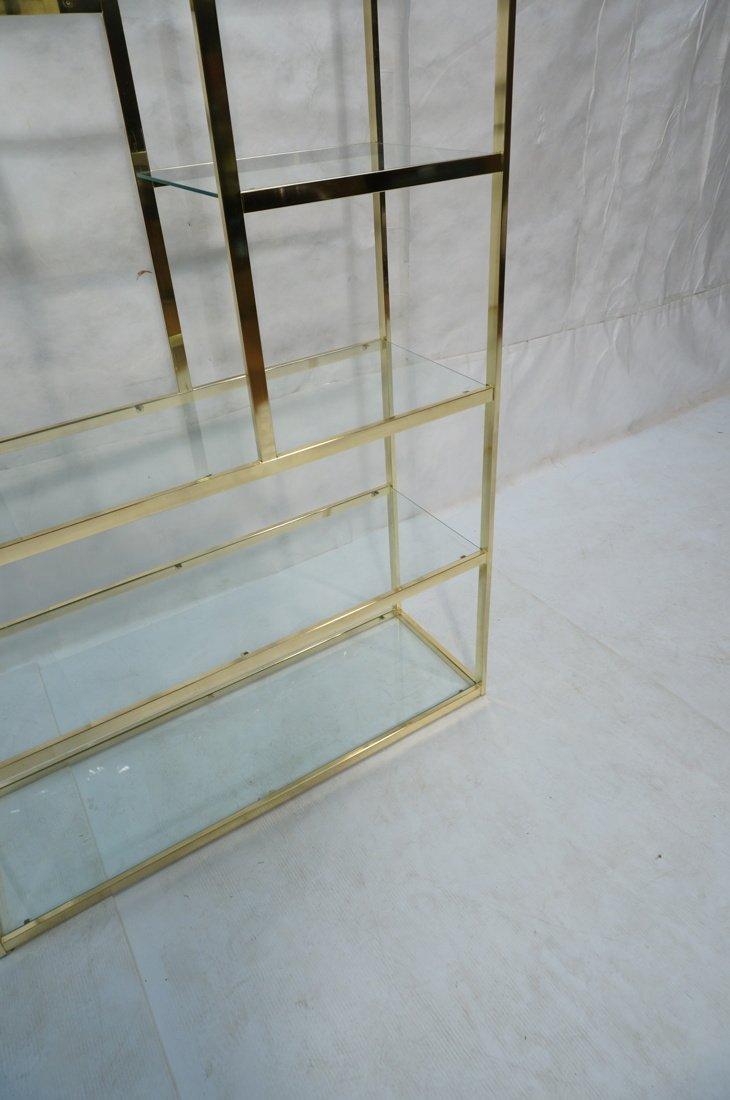Shiny Brass & Glass Etagere. Display Unit. Glass - 3