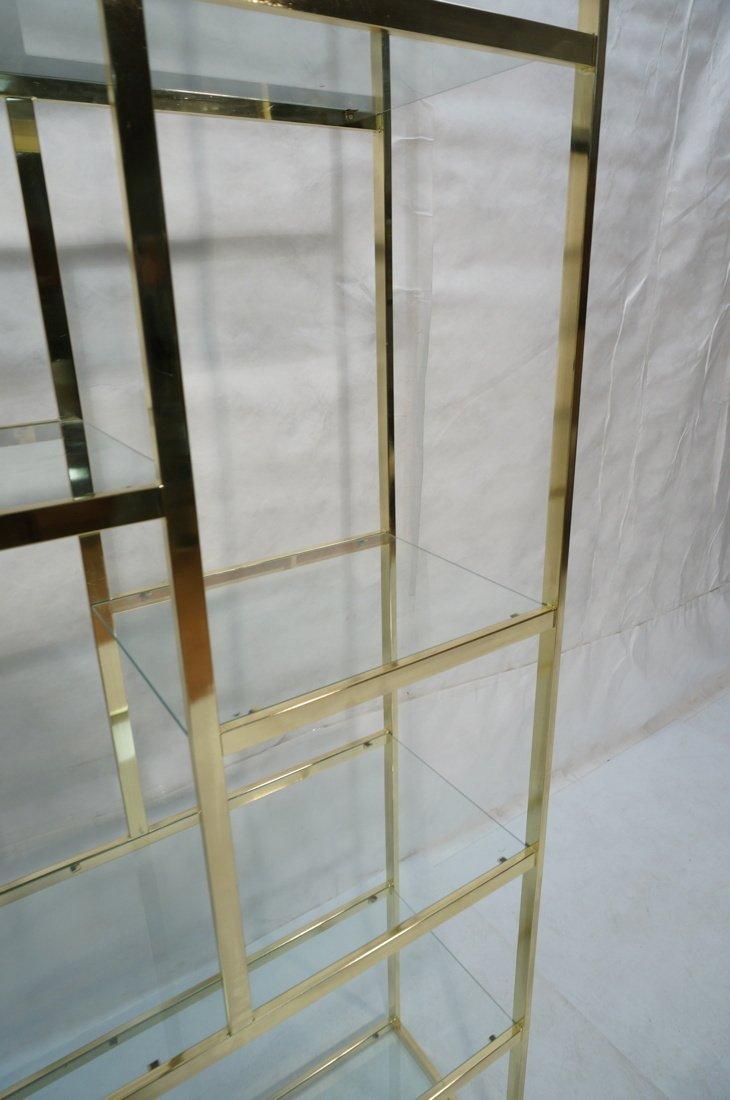 Shiny Brass & Glass Etagere. Display Unit. Glass - 4