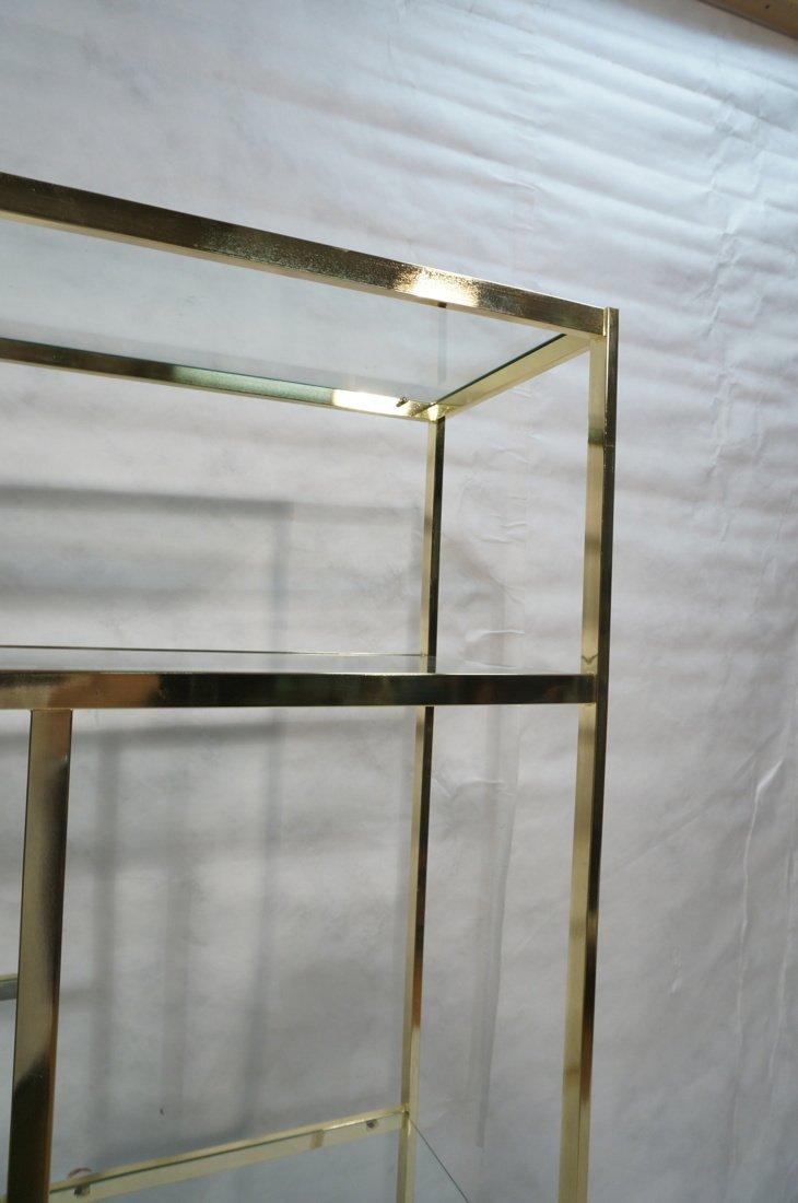 Shiny Brass & Glass Etagere. Display Unit. Glass - 5