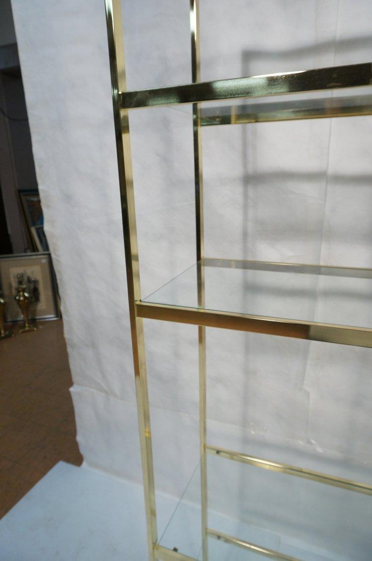 Shiny Brass & Glass Etagere. Display Unit. Glass - 6