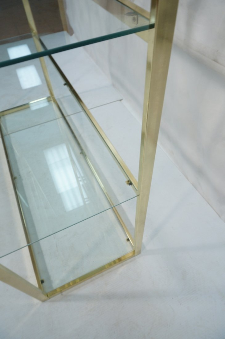 Shiny Brass & Glass Etagere. Display Unit. Glass - 7