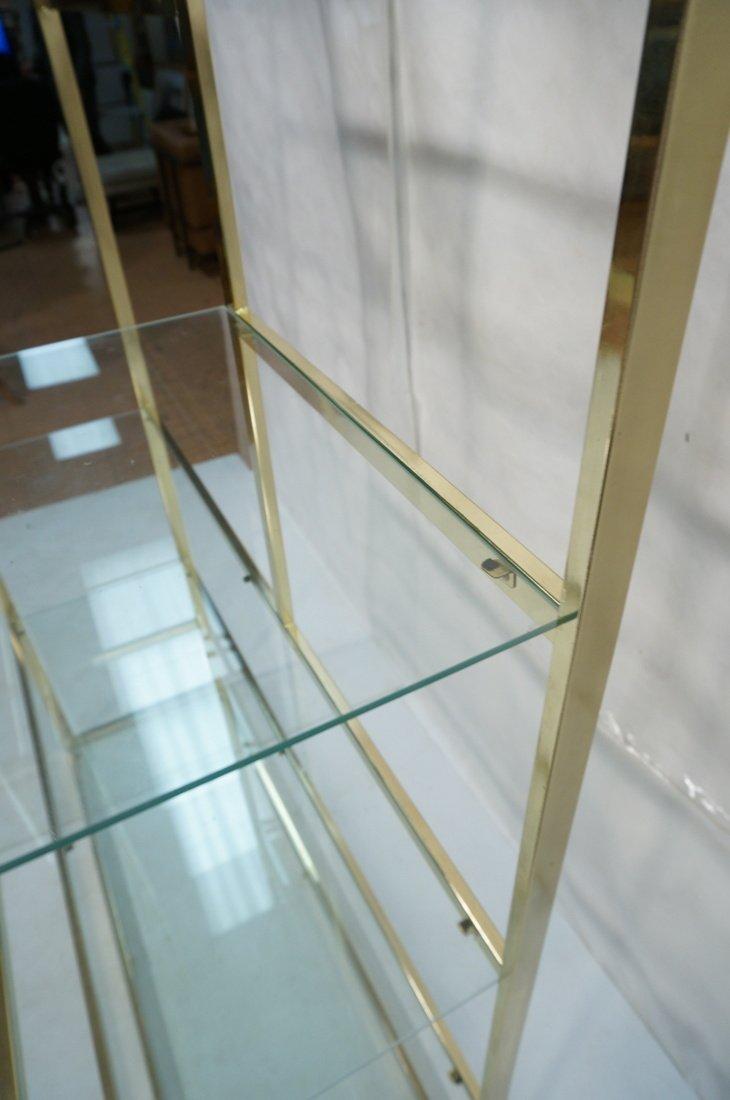 Shiny Brass & Glass Etagere. Display Unit. Glass - 8