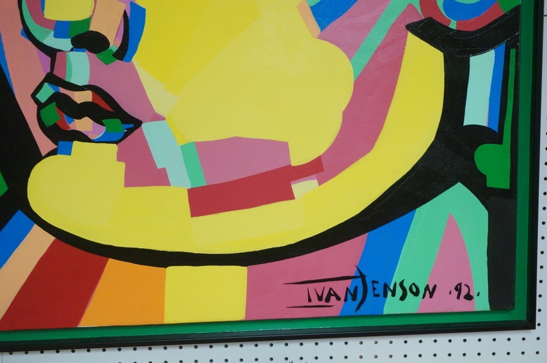 IVAN JENSON Large Vibrant Color Acrylic Painting. - 3