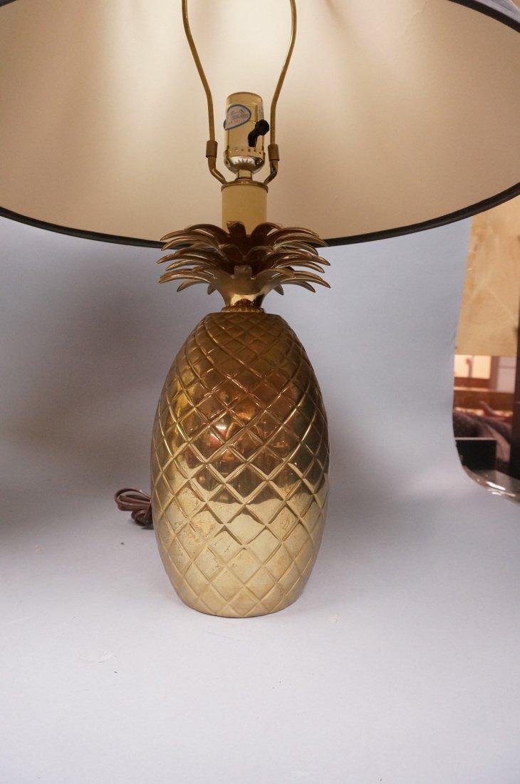 2pc Brass Modern Lamps. 10. Brass Pineapple Lamp - 3