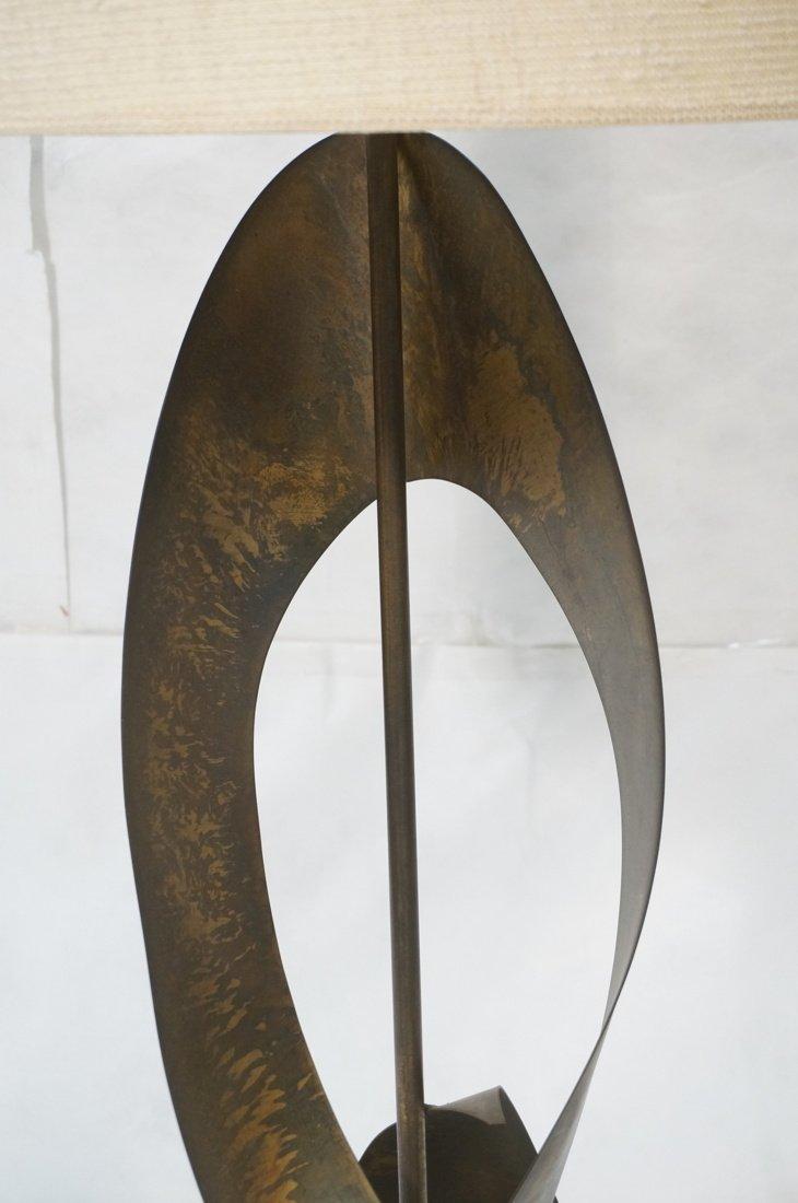 Tall HARRY BALMER Ribbon Form Metal Lamp. Produce - 3