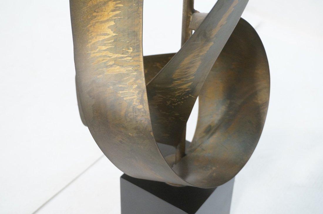 Tall HARRY BALMER Ribbon Form Metal Lamp. Produce - 4