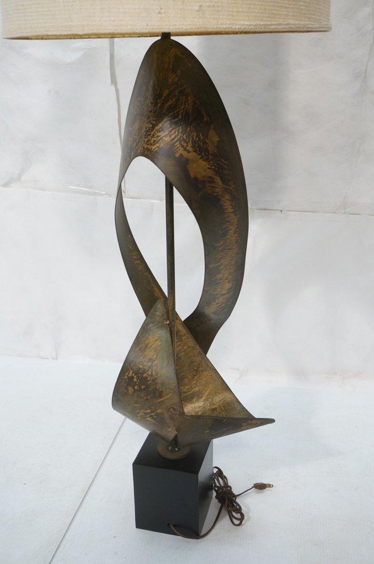 Tall HARRY BALMER Ribbon Form Metal Lamp. Produce - 6