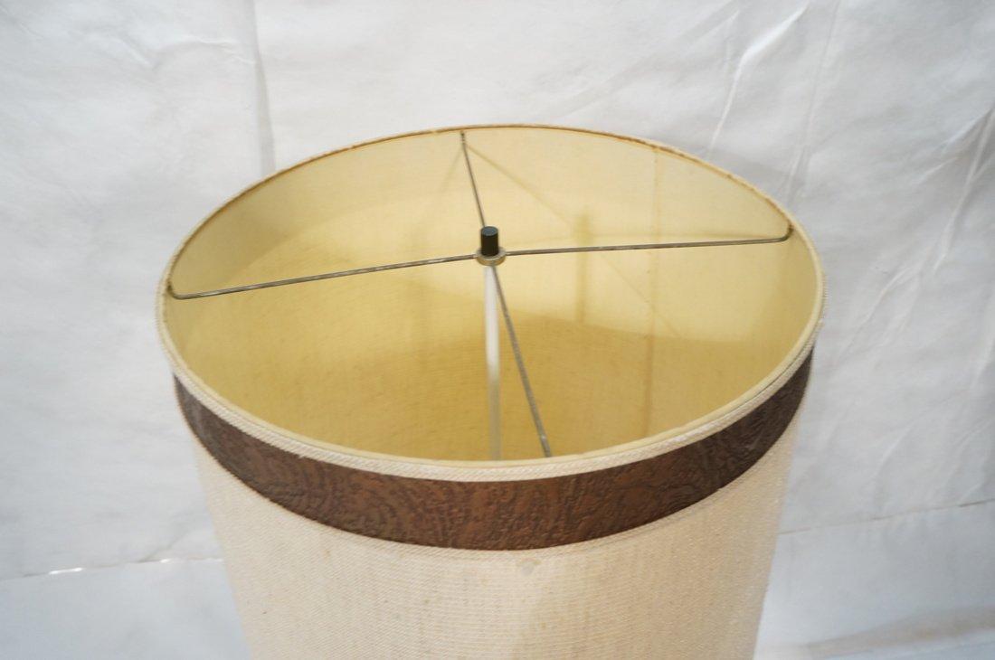 Tall HARRY BALMER Ribbon Form Metal Lamp. Produce - 8