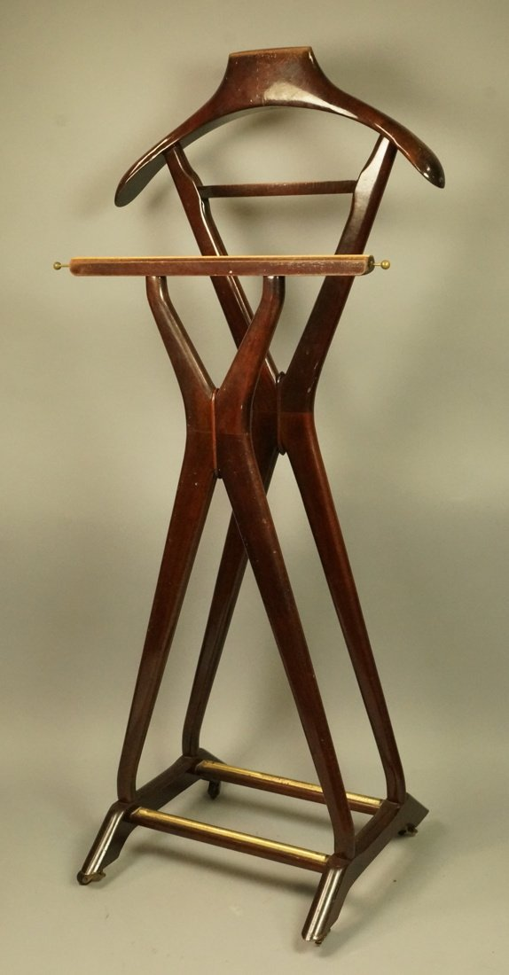 Ico Parisi Brown Wood Valet. FR Italian Modern va