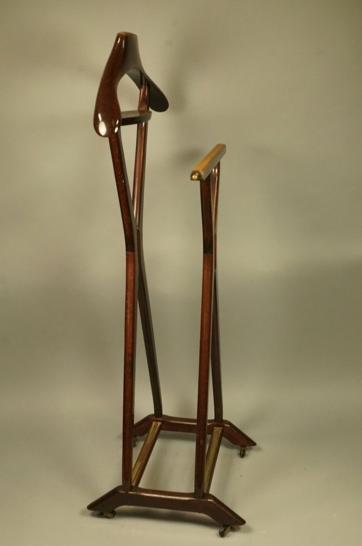 Ico Parisi Brown Wood Valet. FR Italian Modern va - 5