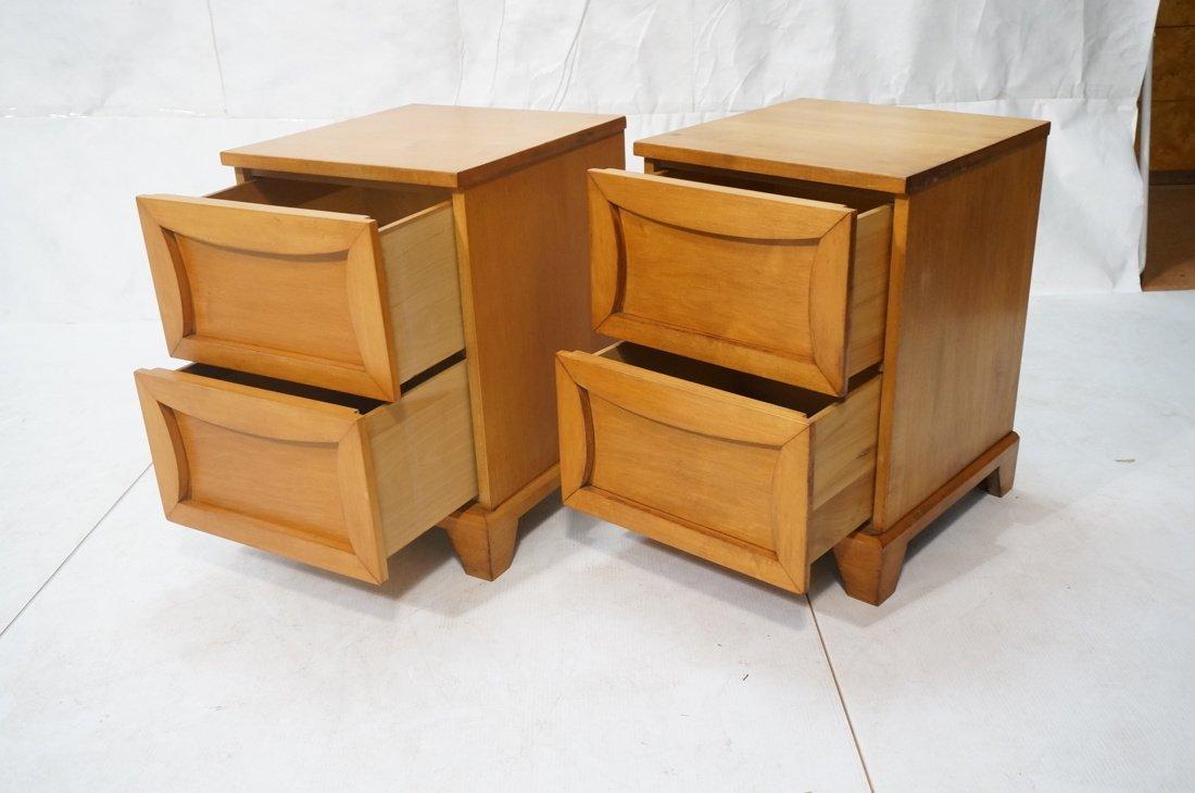 Pr Modernist C.B. 2 drawer night stands. Shaped d - 2