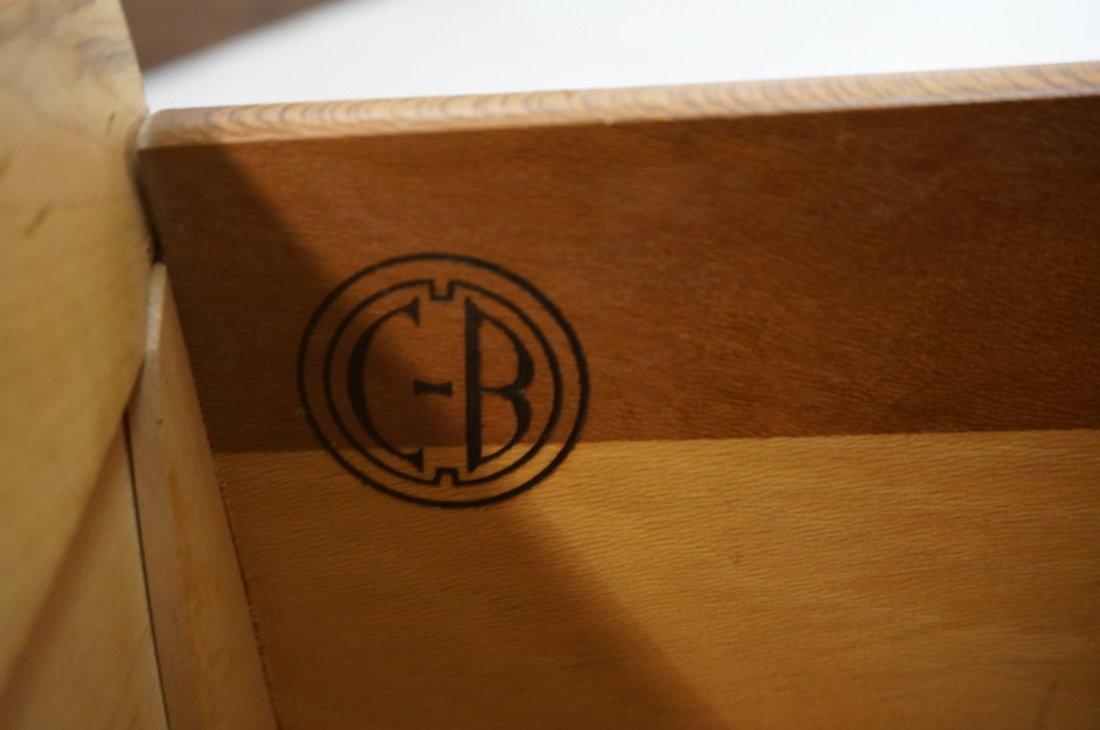 Pr Modernist C.B. 2 drawer night stands. Shaped d - 3