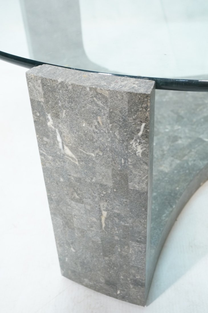 Contemporary Stone Tesserae Cocktail Table. Glass - 2