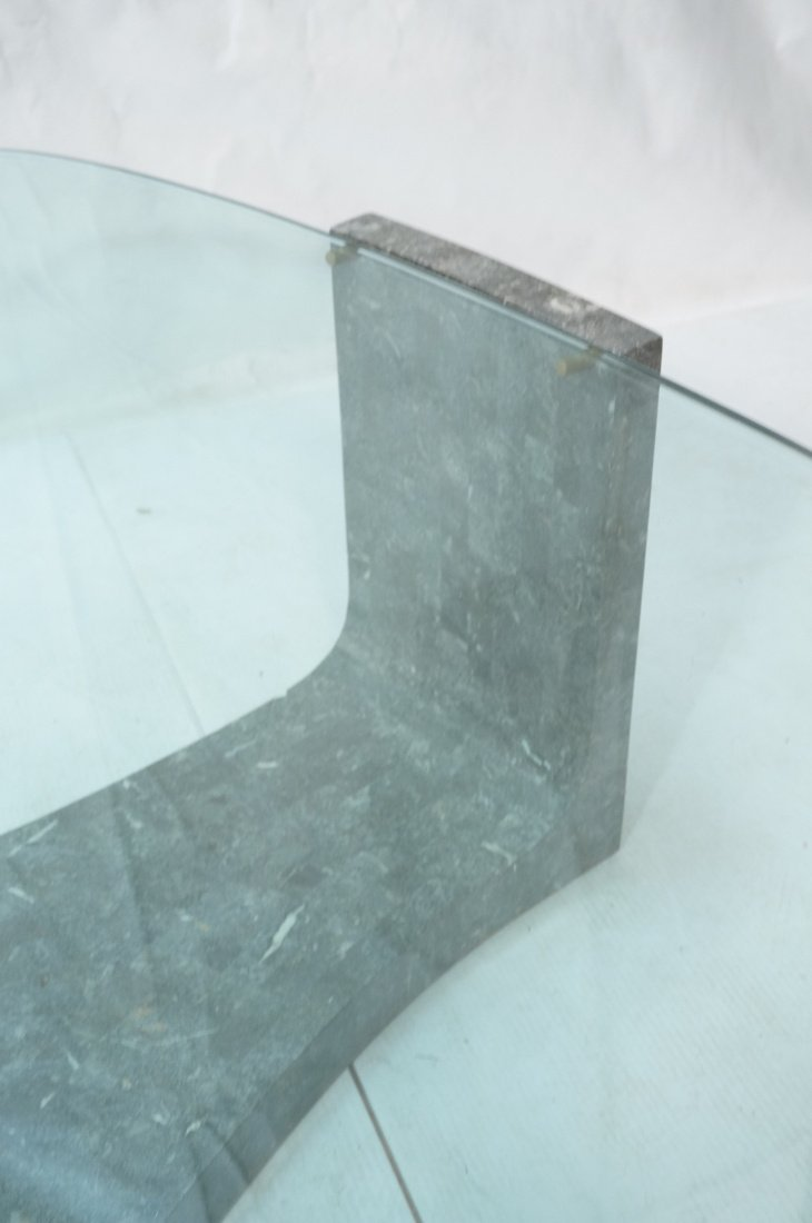 Contemporary Stone Tesserae Cocktail Table. Glass - 3