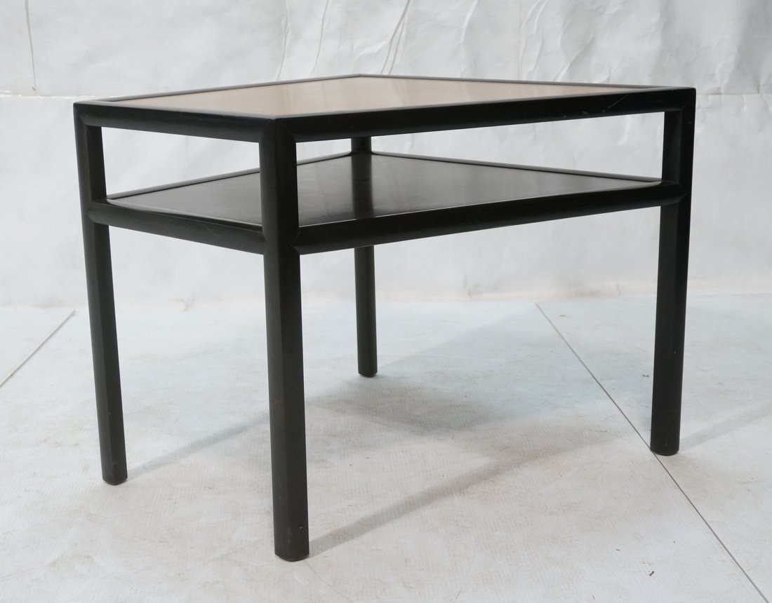BAKER Two Tone Wood Wedge Side Table. Ebonized tr - 2
