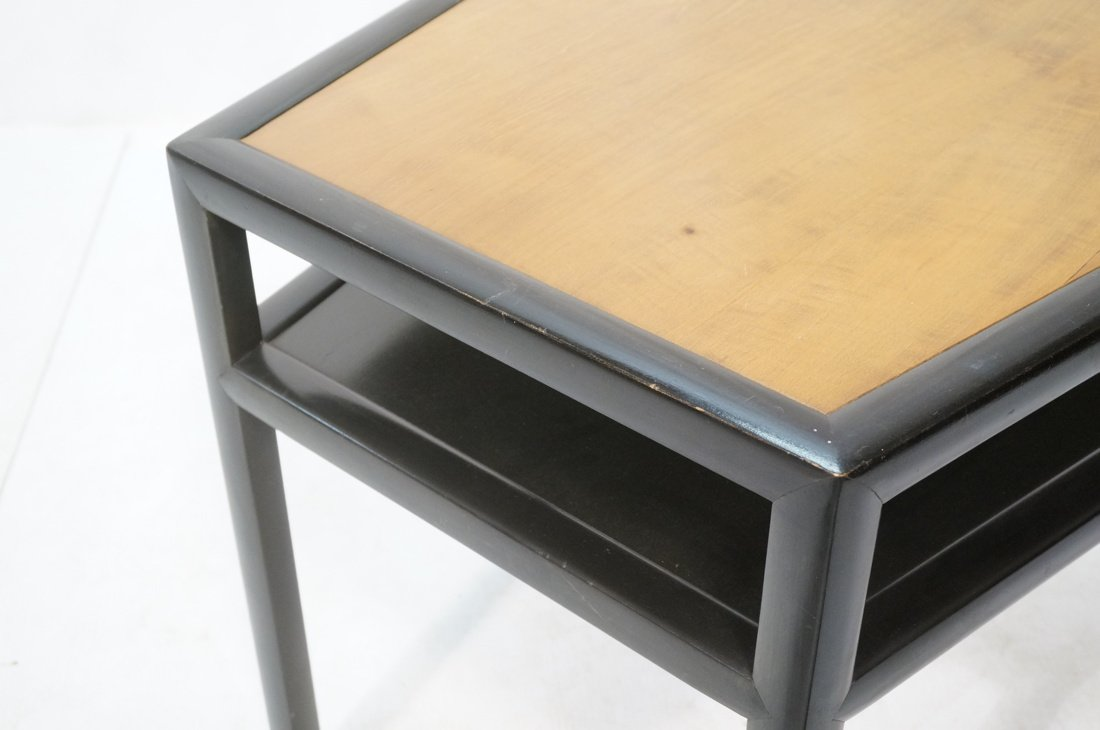 BAKER Two Tone Wood Wedge Side Table. Ebonized tr - 5