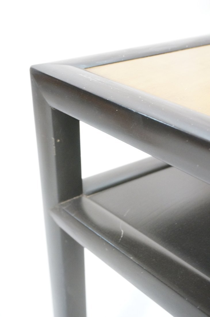 BAKER Two Tone Wood Wedge Side Table. Ebonized tr - 6
