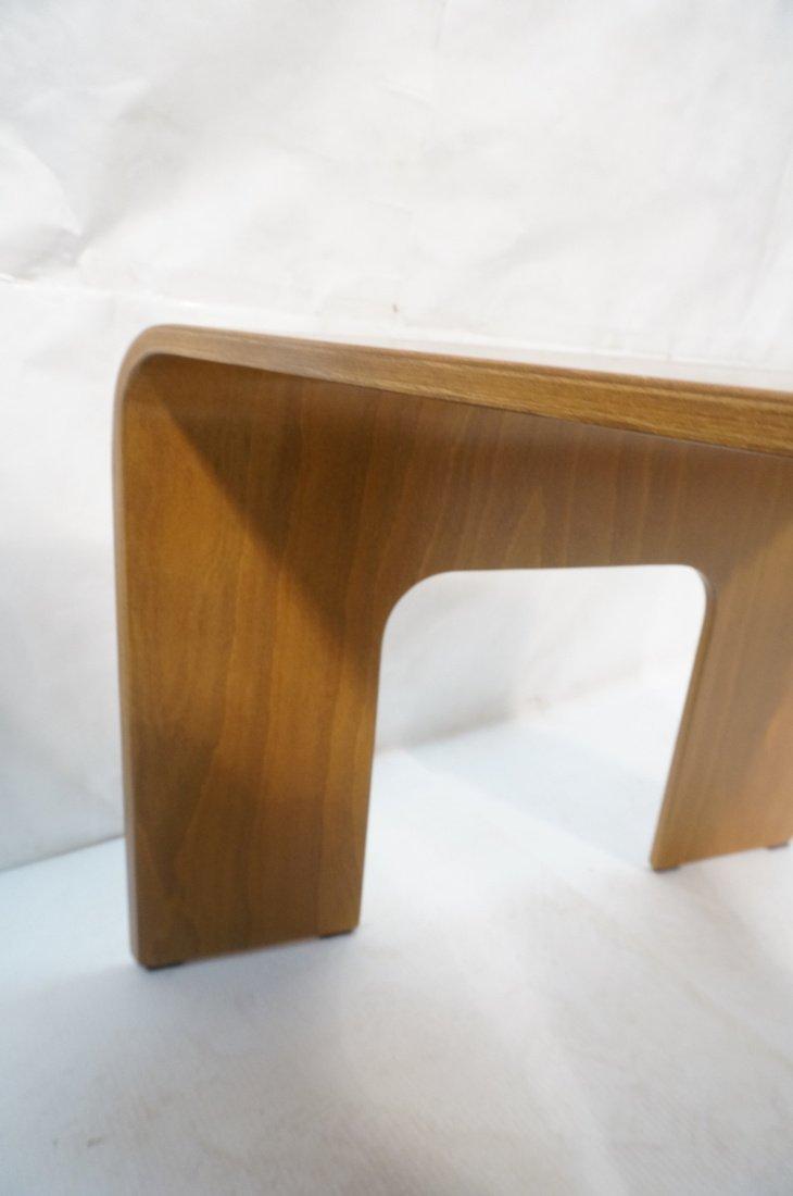 "Pr EKORNES ""wedge"" Tables. Flat molded wood form - 6"