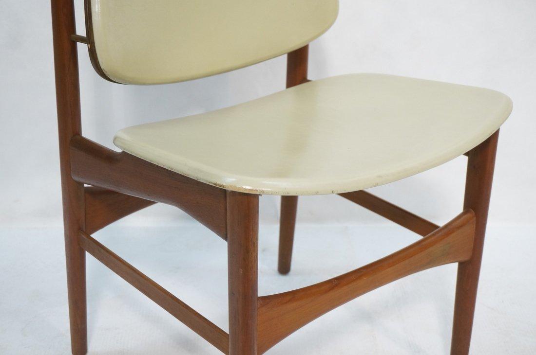 ARNE HOVMAND OLSEN Teak Office Chair.  Pale Leath - 3