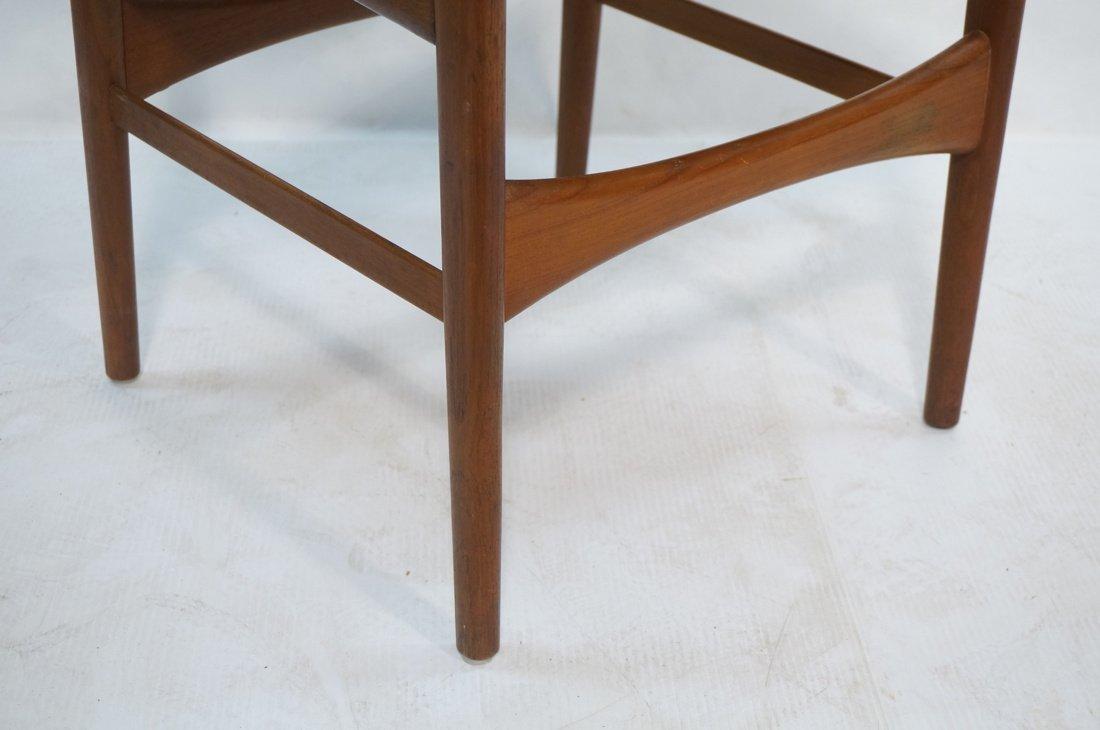 ARNE HOVMAND OLSEN Teak Office Chair.  Pale Leath - 4