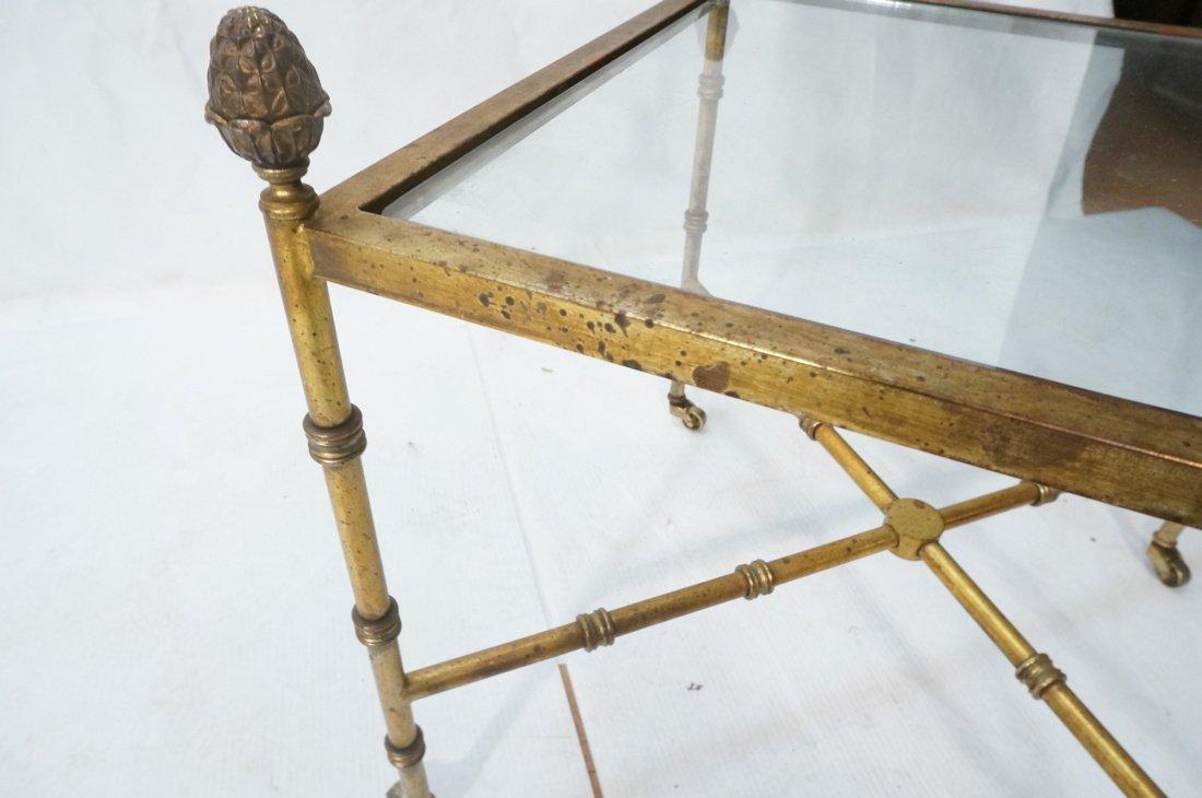 Pr Gilt metal Square Side Tables. Antiqued gold p - 10