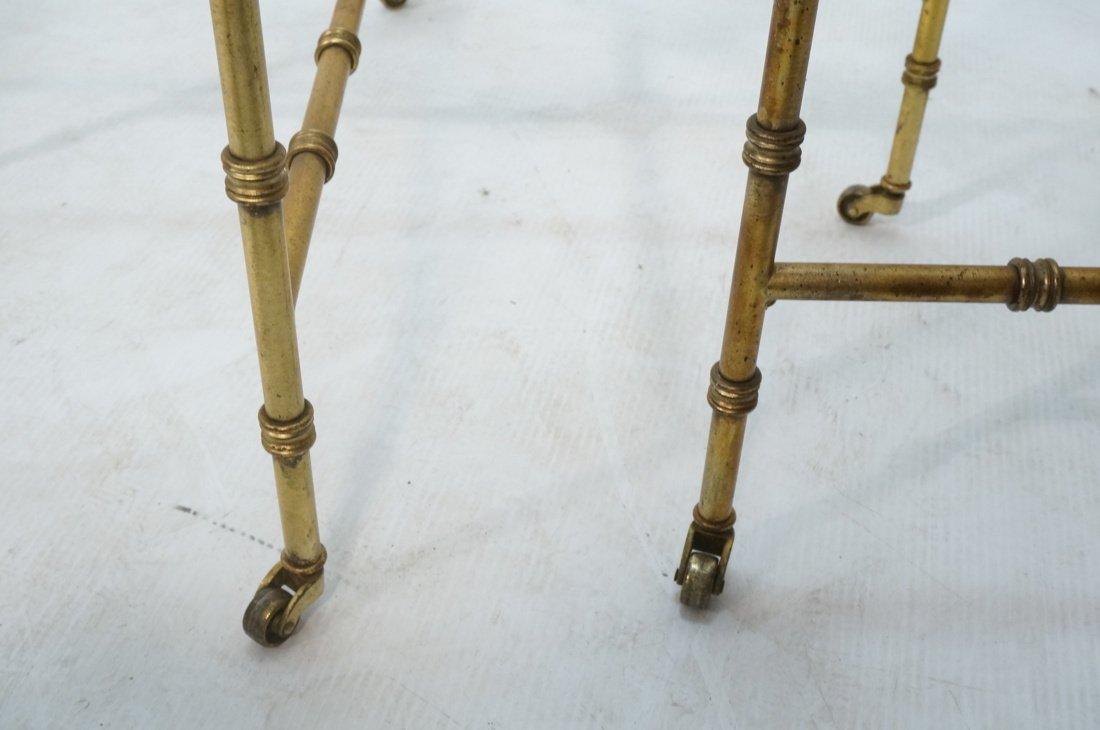 Pr Gilt metal Square Side Tables. Antiqued gold p - 8