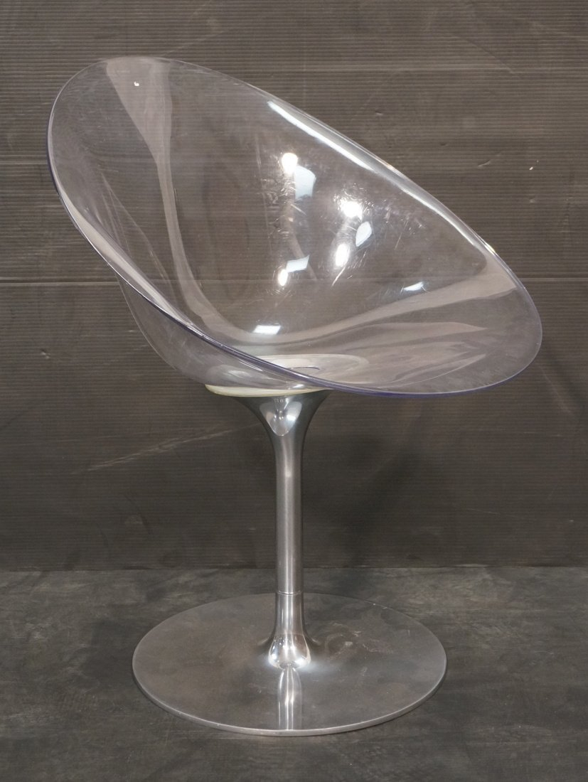Lucite & Chrome Lounge Chair. KARTELL with STARCK