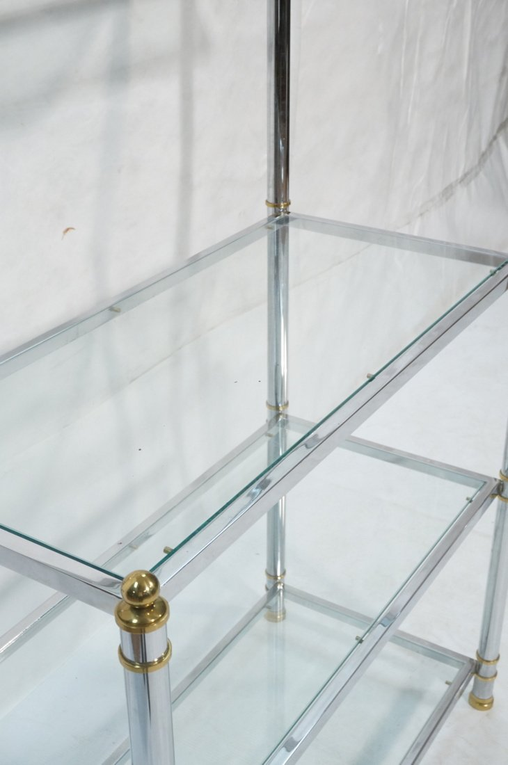 Chrome & Glass Etagere Display Shelf Unit. Steppe - 4