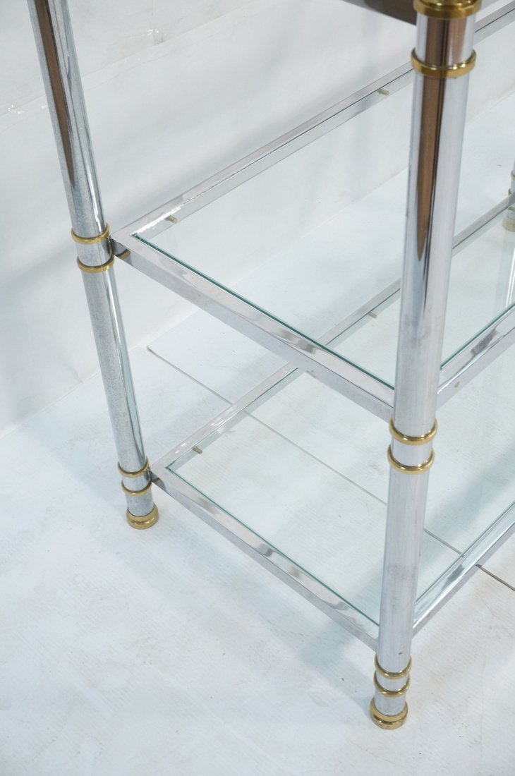 Chrome & Glass Etagere Display Shelf Unit. Steppe - 5