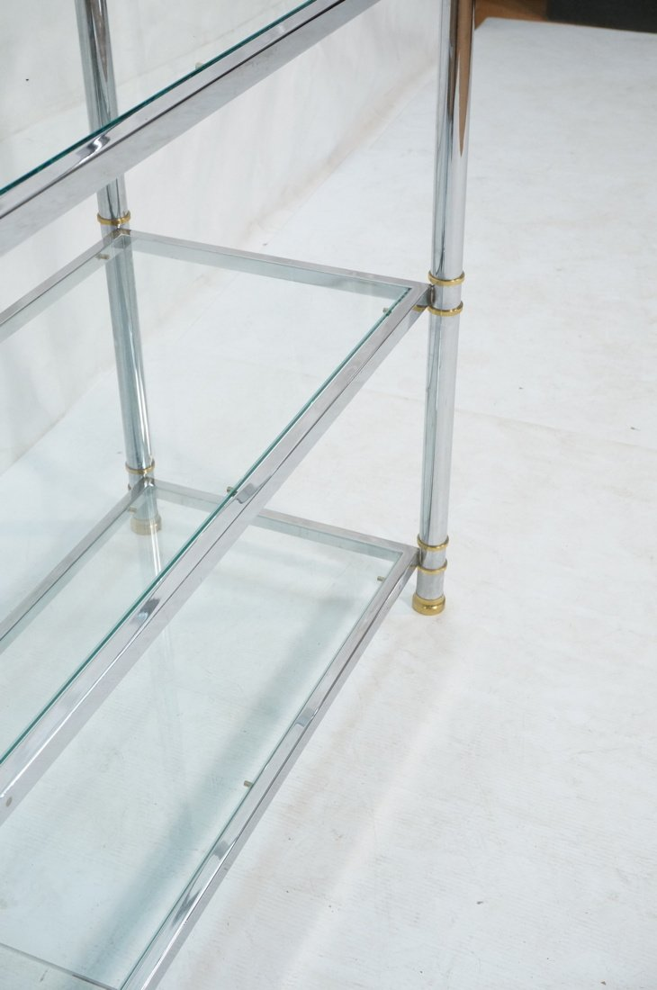 Chrome & Glass Etagere Display Shelf Unit. Steppe - 6