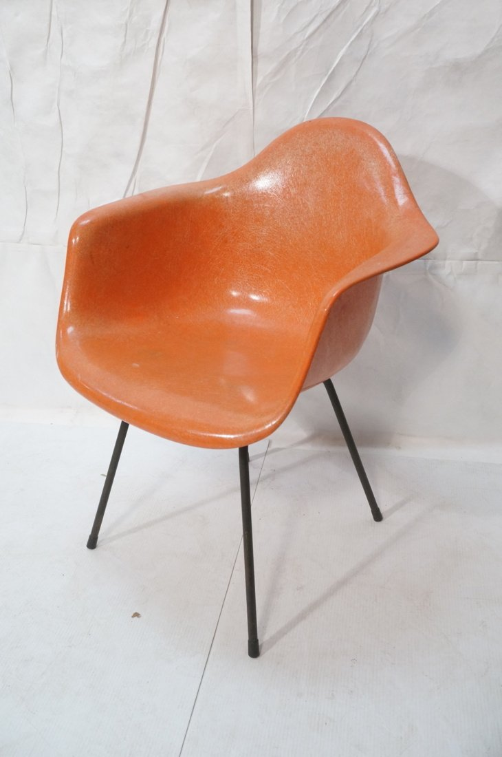 Orange HERMAN MILLER Fiberglass Shell Lounge Chai - 2