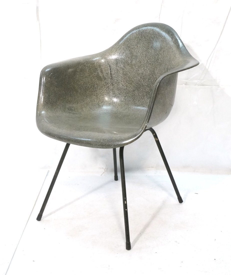 Charcoal HERMAN MILLER Fiberglass Shell Lounge Ch
