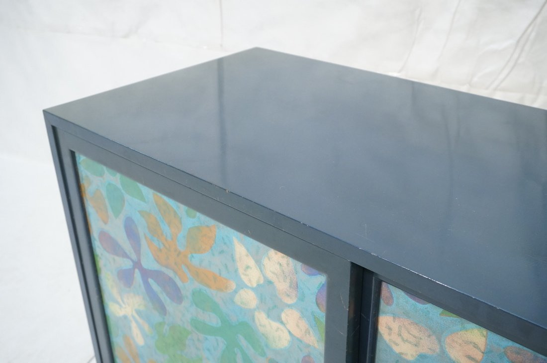 Probber Blue Lacquered Modernist Cabinet. Two sli - 7