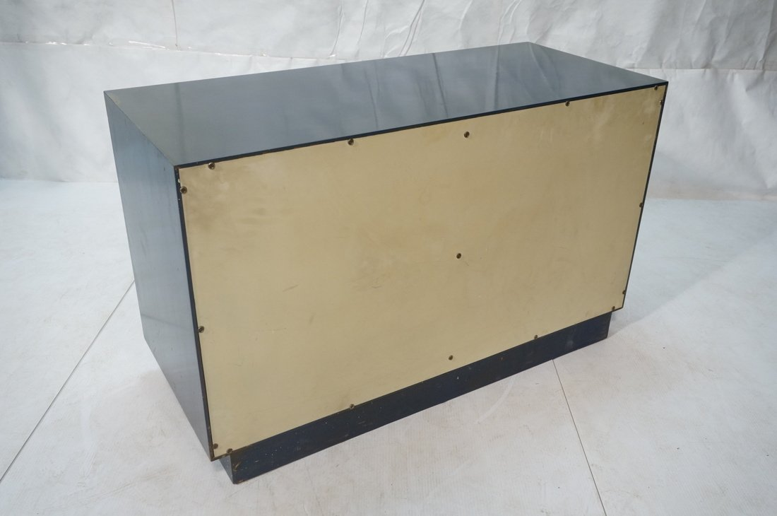 Probber Blue Lacquered Modernist Cabinet. Two sli - 8