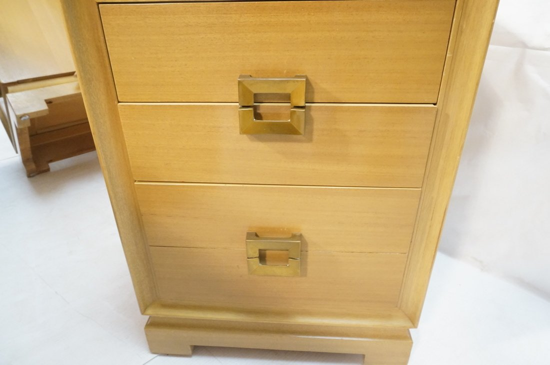 RED LION Modernist Blond Wood Night Stands. Three - 7