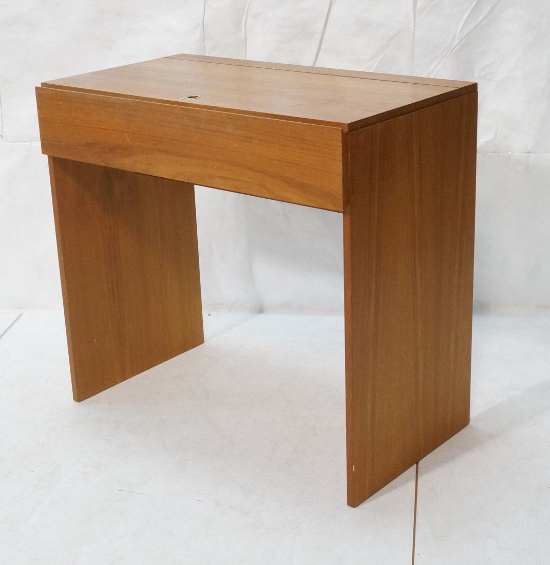 Modernist Danish Teak Flip Top Vanity. Interior m - 2