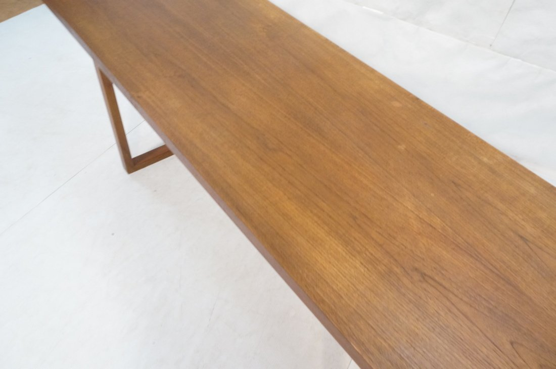 Long minimalist wood coffee Table. Adjustable Hei - 4