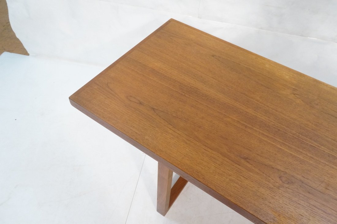 Long minimalist wood coffee Table. Adjustable Hei - 5