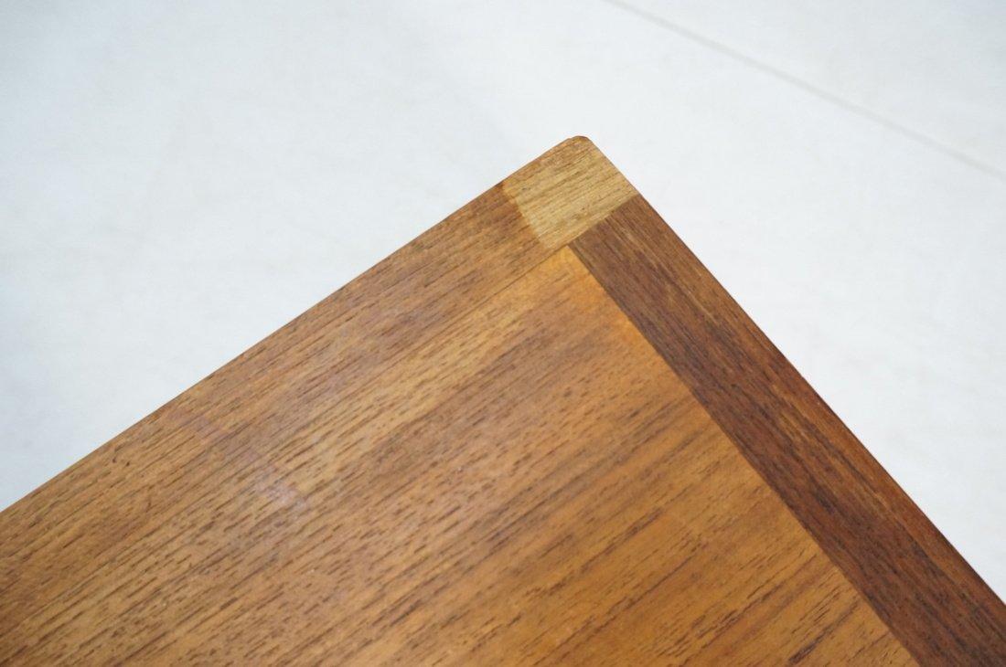 Long minimalist wood coffee Table. Adjustable Hei - 7