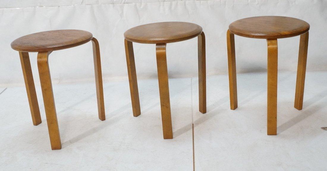 Set 3 Swedish Round Stacking Tables. Alvar Aalto