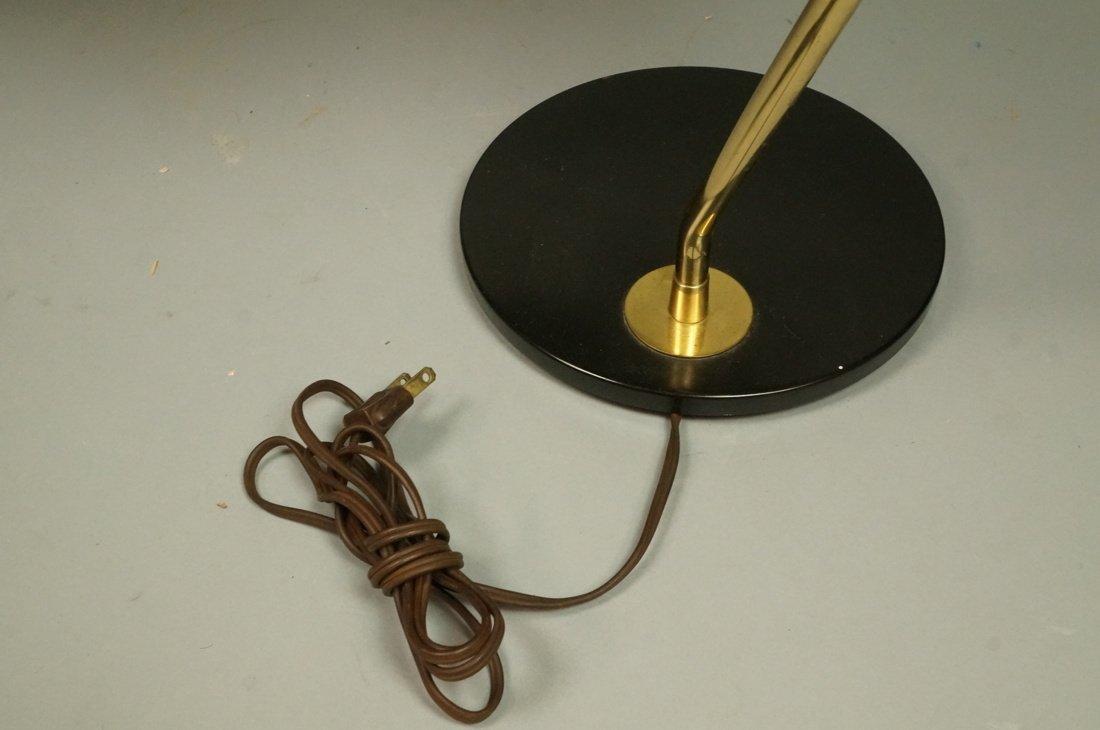 Pr LIGHTOLIER Black Metal Saucer Table Desk Lamps - 7