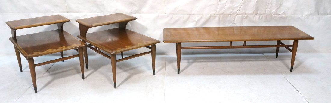 3pc LANE Table Set. Coffee Table & Pr Step Tables