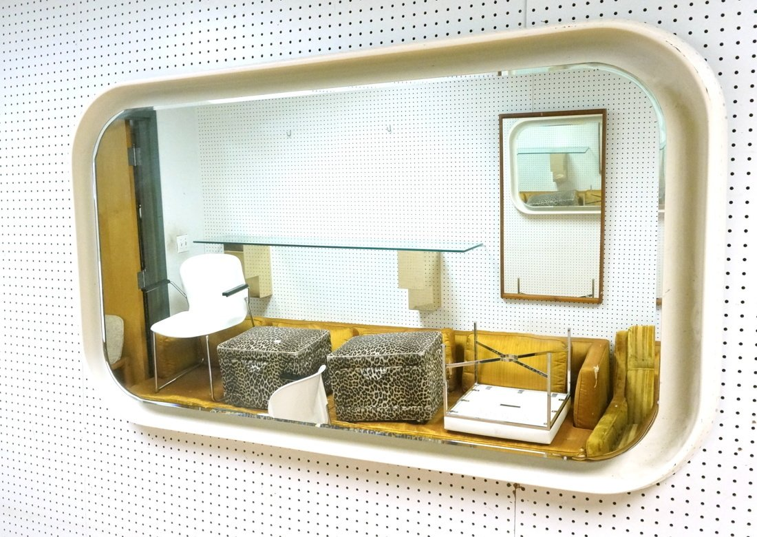 Fiberglass off white plastic 70's Modernist Wall