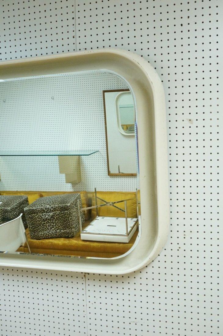 Fiberglass off white plastic 70's Modernist Wall - 2