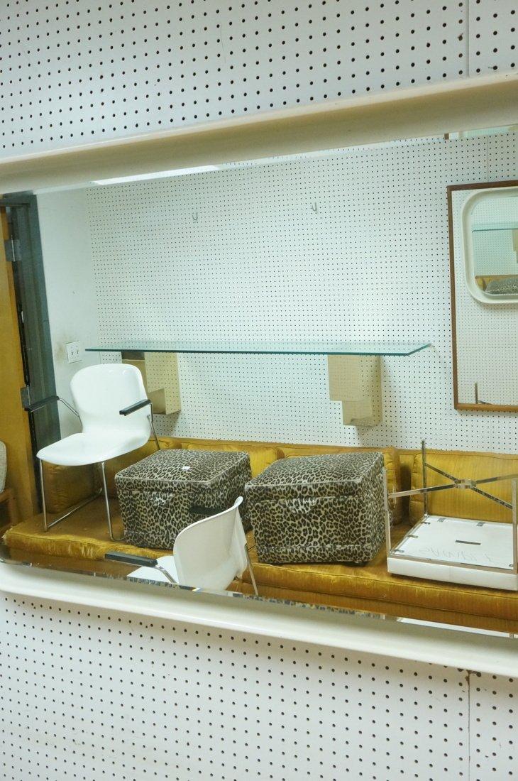 Fiberglass off white plastic 70's Modernist Wall - 3