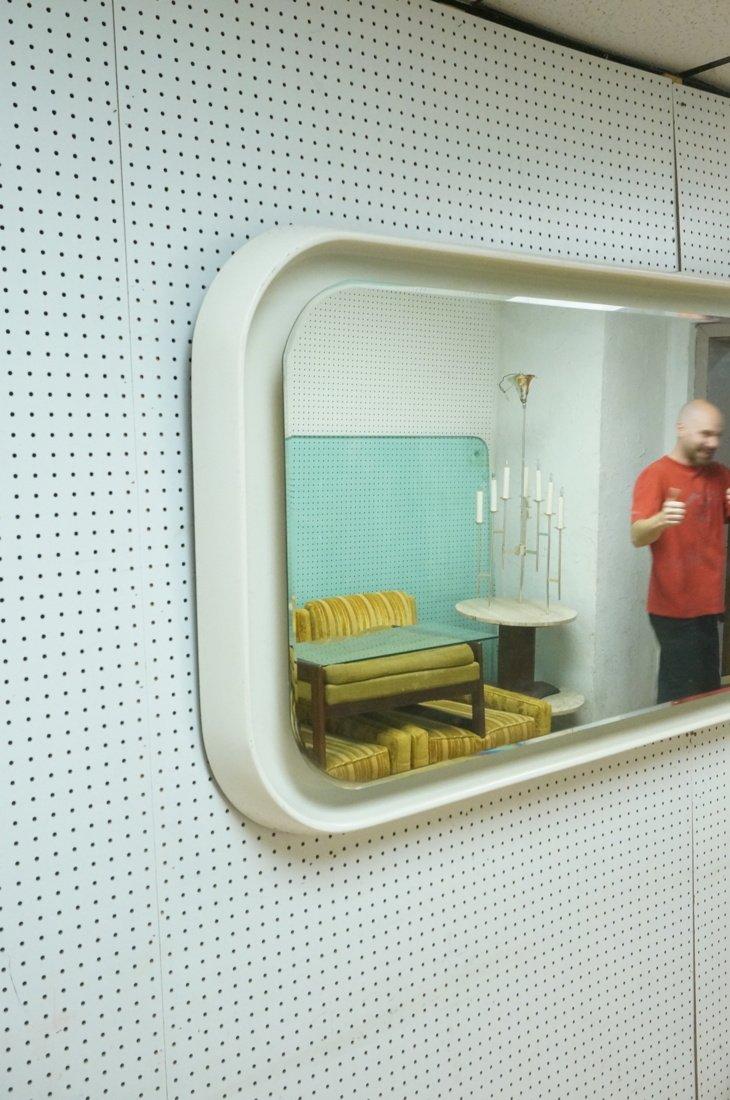 Fiberglass off white plastic 70's Modernist Wall - 4