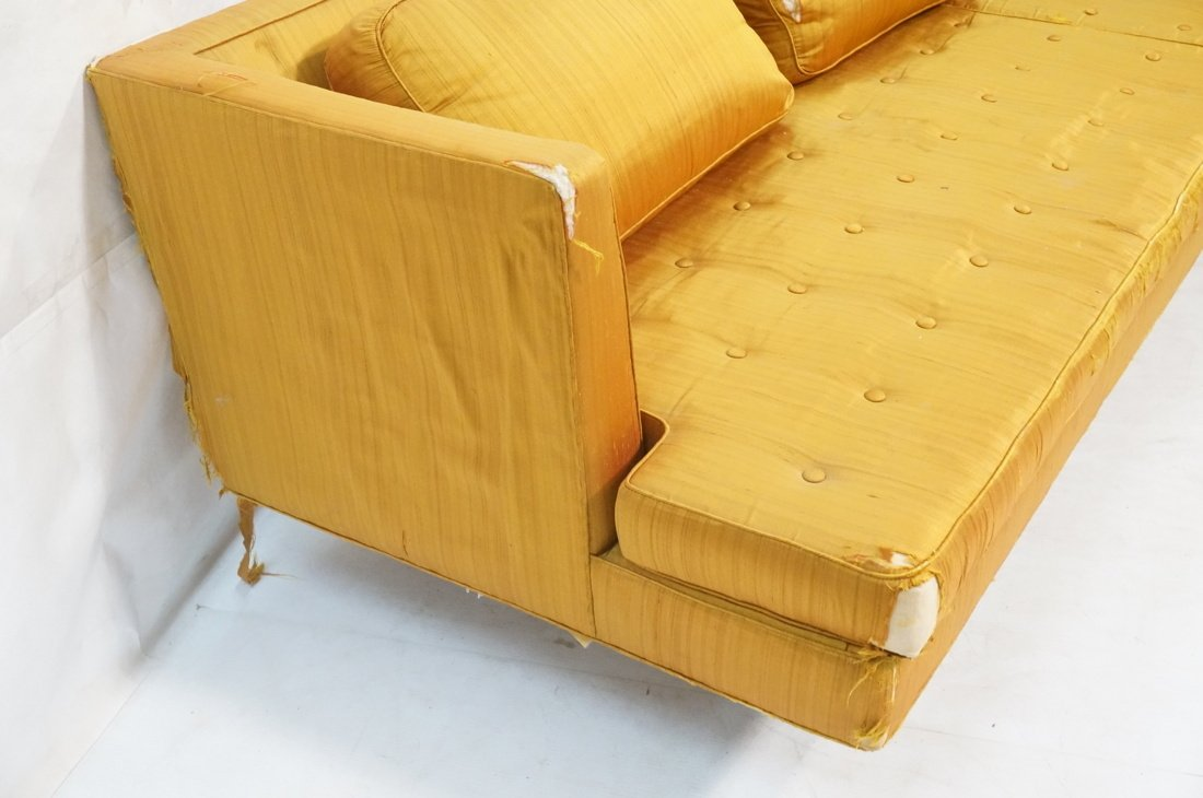 DUNBAR Long Gold Fabric Modernist Sofa. Gold meta - 4
