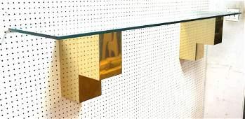 Paul Evans Style Wall Mounted Shelf. Champagne fi