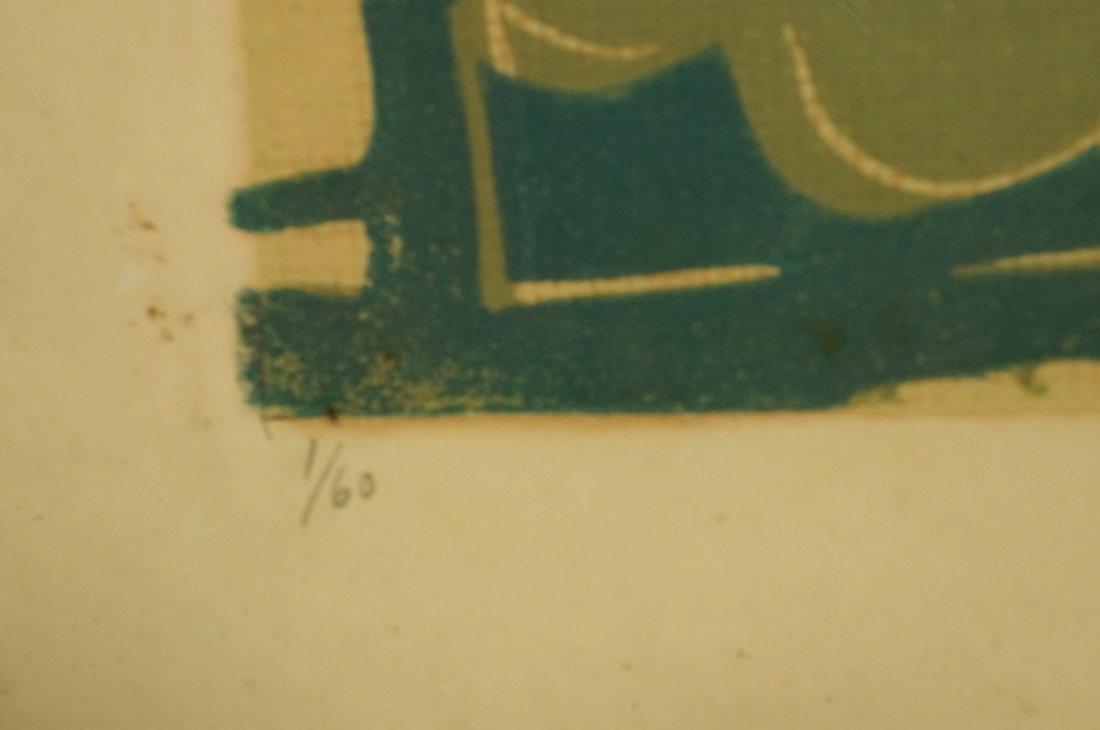 "ALFREDO ZALCE Wood Block Print. ""Mercado"" Three s - 4"