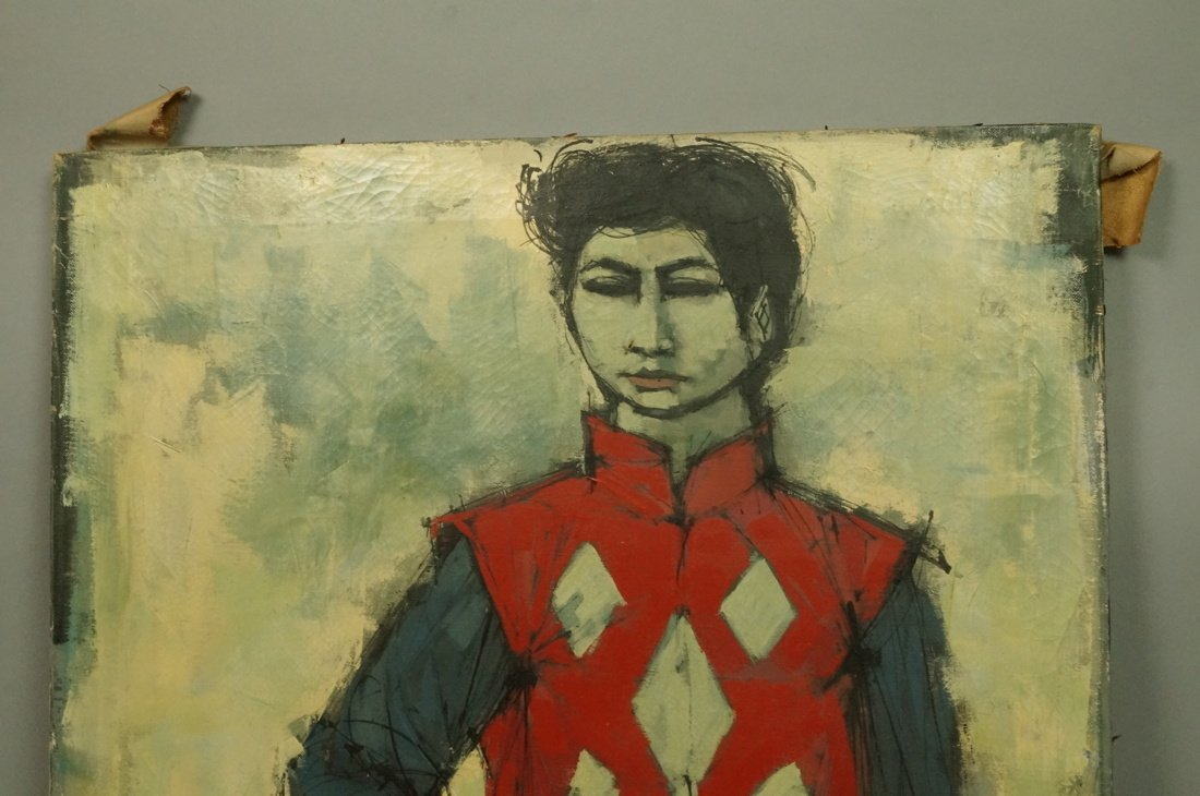 CABANISS Oil Painting. Jockey in red. Signed Mode - 3
